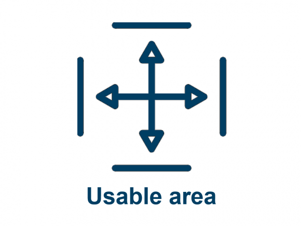 Usable area CRE
